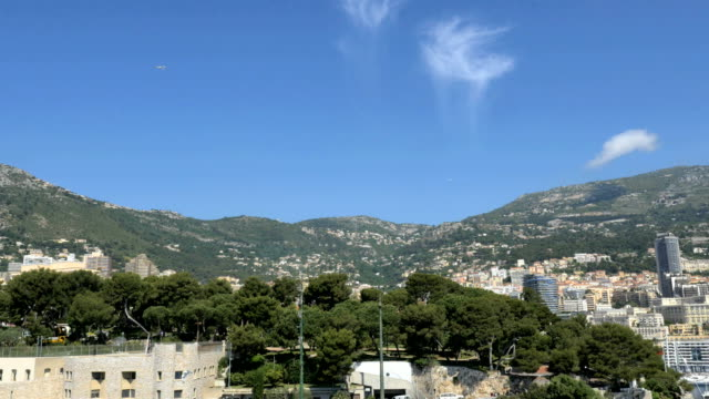 Monaco Aerial sunset yacht building casino success transport