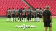 London Wembley Stadium EXT Various shots AS Monaco FC training session
