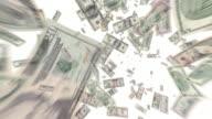 Geld Dollar-Scheine