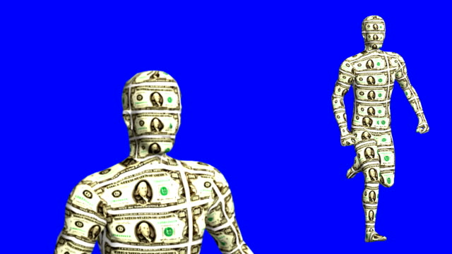Money Man Runs Loopable HD - Blue Box