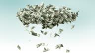Money rain - loopable, alpha matte