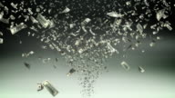 Money tornado - loopable, HD