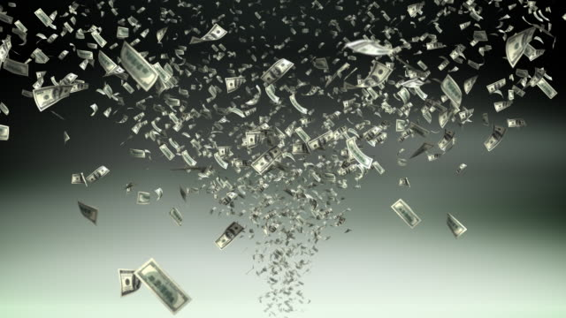 Money tornado - loopable, HD