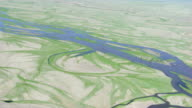 Mongolia : Close up of  winding streams