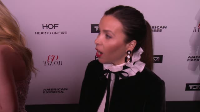 INTERVIEW Monique Lhuillier on what brings her out what being fashionable/stylish means to her and who her style icons are at the Harper's BAZAAR...
