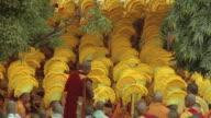 MS, Monks gathering at Mahabodhi Temple, Bodh Gaya, Bihar, India