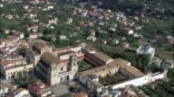 Monreale l'abbazia di e cattedrale-Vista aerea-Sicilia, Provincia di Palermo, Monreale, Italia
