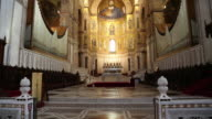 Monreale Cathedral,interior, view of the choir, Palermo, Sicily.