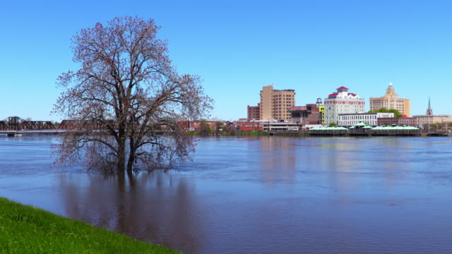 Monroe Louisiana along the banks of a flooded Ouachita River