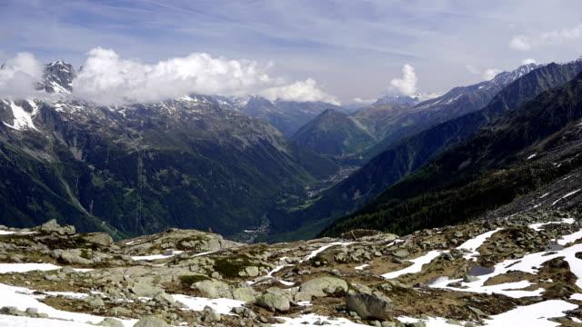 Mont Blanc sonnigen Tag Zeitraffer