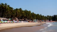 Montage: Goa Palolem beach in India