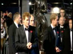 Montage of celebrities at Quantum of Solace royal premiere including Prince William Prince Harry Dame Judi Dench Daniel Craig Satsuki Mitchell and...