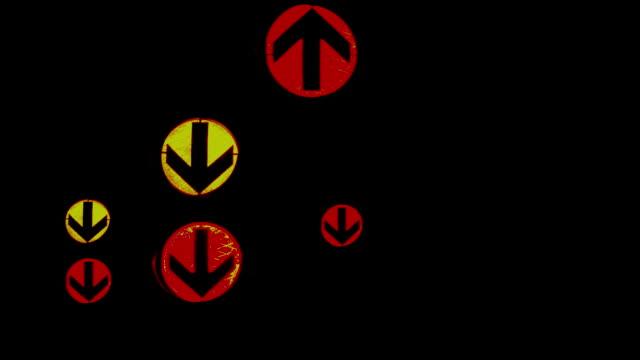HD Montage of Traffic Lights at Night