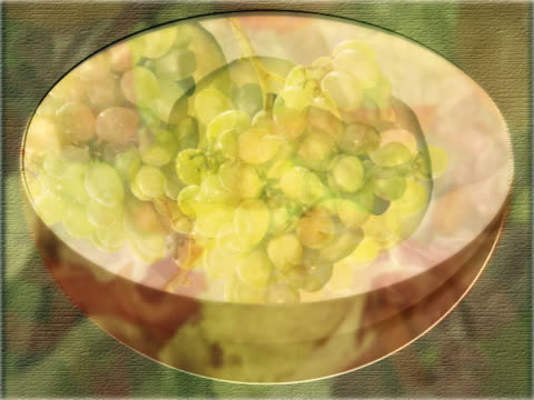 CU CGI MULTIPLE EXPOSURE Montage of various fruits in bowl