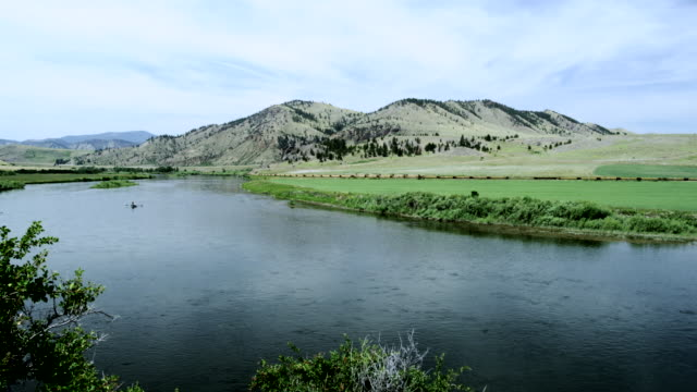 Montana Scene with Missouri River, USA