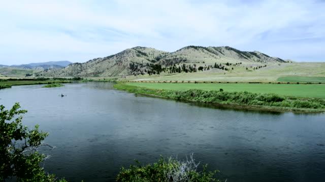 Montana Scene with Missouri River, USA