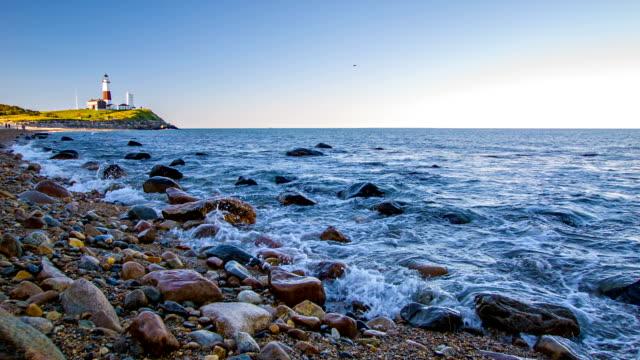 Montauk Lighthouse and sea
