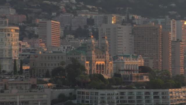 ZO, WS, Monte Carlo Casino and yachts in Monte-Carlo harbor, Monaco
