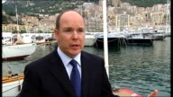 Monte Carlo Port Hercules EXT Prince Albert II of Monaco interview SOT Can't control overfishing or illegal fishing or unreported fishing have to...