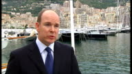 Monte Carlo Port Hercules Prince Albert II of Monaco interview SOT The US has expressed interest