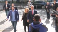 Montenegrin Prime Minister and Democratic Party of Socialists leader Milo Djukanovic casts his ballot in the parliamentary elections at a polling...