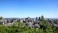 Montreal paesaggio urbano di Mont Royal belvedere