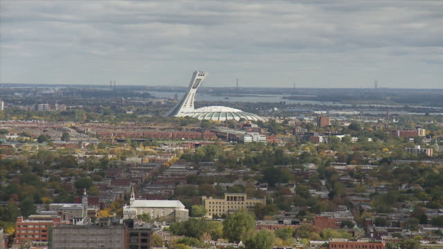 Montreal Sky line With Olympic Stadium