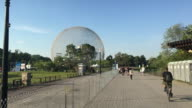 Montreal's Biosphere in the recreation area of Saint Helen's island, Canada