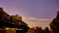 Montserrat sky rotating during perseids night - Time lapse