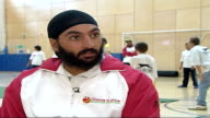 Monty Panesar playing cricket with children / interview Monty Panesar interview SOT Things going well this year good team effort getting series win...