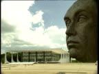 Monument to former Brazilian President Juscelino Kubitschek de Oliveira Supreme Federal Tribunal in background Brasilia