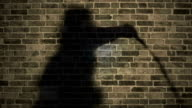 Moody Shadow Man Cracks Whip