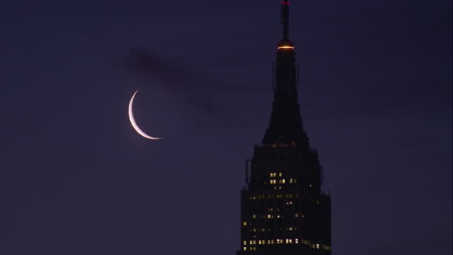 Moon Above the Empire State Building