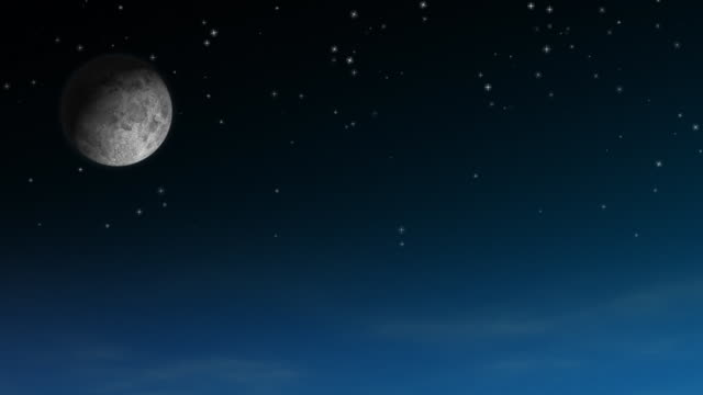 Moon & Twinkling Stars HD