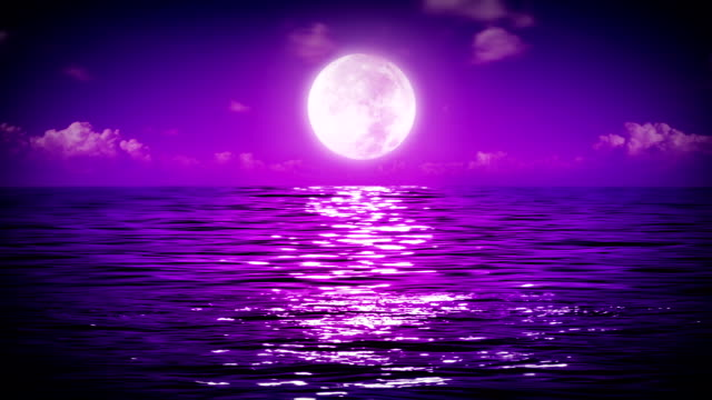 Moon and sea.