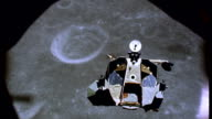 / moon craters can be seen Apollo 17 Lunar Module above moon surface on December 11 1972 in In Space