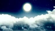 Luna in una Notte nuvolosa
