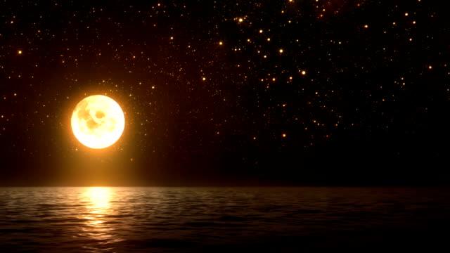 Moon, stars and sea (loopable)