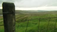 Moors Murderer Ian Brady dies aged 79 GV View from hill of lake and moors Moors seen through fence Low angle shot of pond and moor John Ainley...