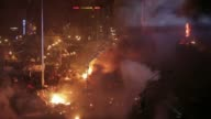More footage of clashes and flames engulfing Kiev's occupied Independence Square CLEAN Police protesters wage war in deadly Kiev on February 19 2014...