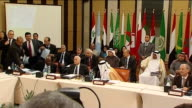 More protesters killed by government forces EGYPT Cairo INT Arab League representative saying 'Can't say now' as asked if Arab League mission in...