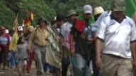 More than 1000 members of indigenous tribes of the Amazon have left their homes in a protest trek taking them all the way to the capital of Bolivia...