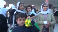 More than 200 most elderly members of Iraqs Yazidi minority were freed by the Islamic State group after eight months in captivity and crossed...