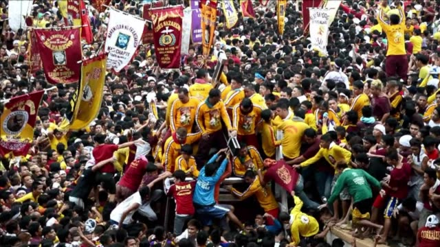 More than a million barefoot devotees parade a centuriesold icon of Jesus Christ in the Philippines biggest religious festival held just before Pope...
