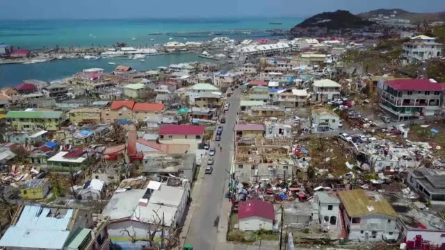 More than a week after Hurricane Irma swept across the Caribbean the island of Saint Martin is devastated