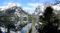 Morning at Jenny Lake in Teton National Park, Wyoming, Pan