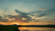 Morning landscape. Nature is waking up.