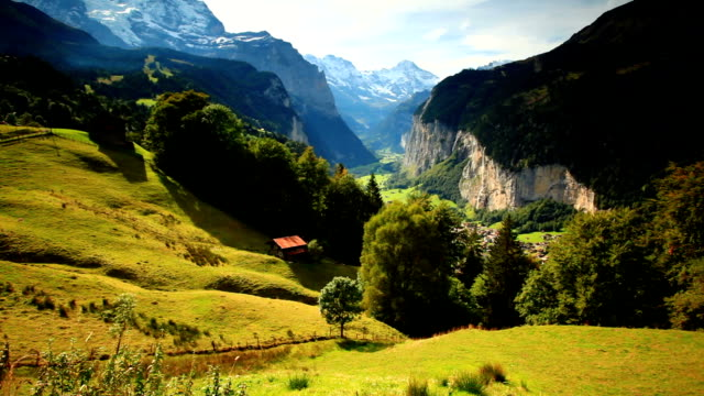 morning of Jungfrau valley