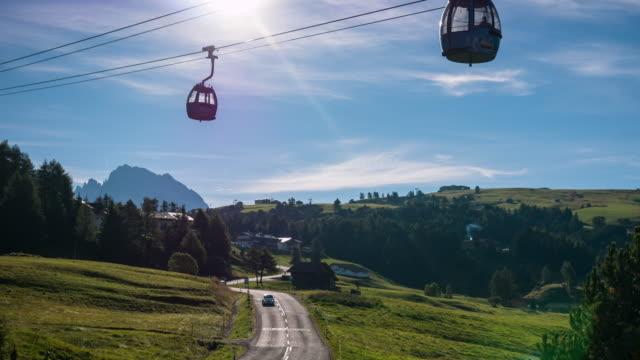 Morning sunrise at Seiser alm, Dolomites