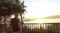 Morning Sunrise View Male Model
